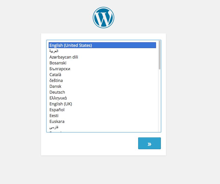 wordpress-4-0 Selección de Idioma